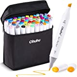 60 Colors Alcohol Art Markers, Ohuhu Double Tipped Coloring Marker for Kids, Fine and Chisel Tip Dual Alcohol Based…