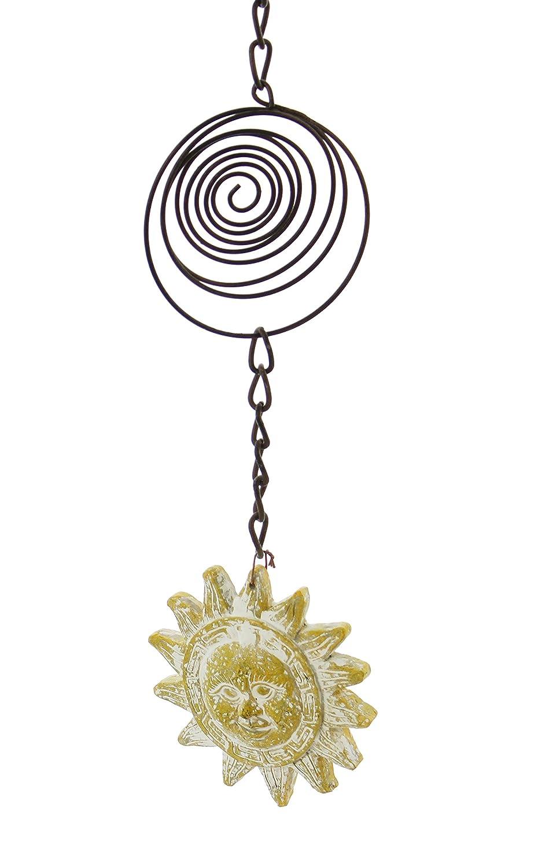 104cm hoch Metall-Hänger Sonne aus Polystein-Elementen und Glaskugeln