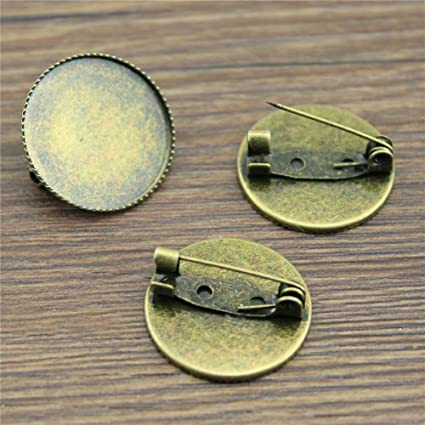 MEWME 25pcs Women s Brooches For Men Decoration Brooch Base Brooches Fit  25mm Round Flat Back Gemstone c67ec53d12