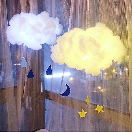 Highpot Baby Night Light Cute Cotton Cloud Shape Lamp Diy Handmade