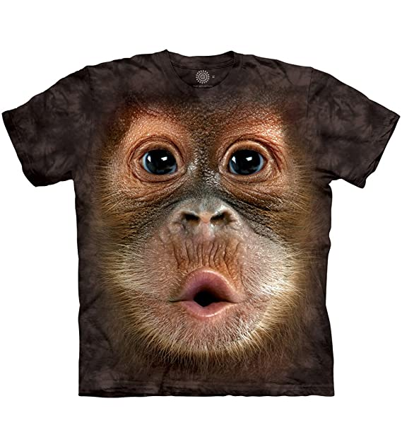 2019 Cool Men Funny Domesticated Monkey Design T Shirt Novelty Tops Customize Printed Short Sleeve Tees Men's Clothing T-shirts