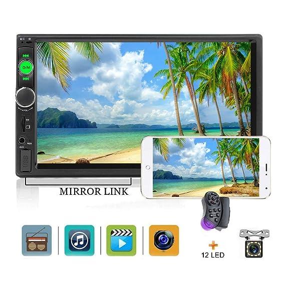 "d51549aa96d Car Stereo 2 din car Radio 7"" HD Player MP5 Touch Screen Digital  Display Bluetooth"