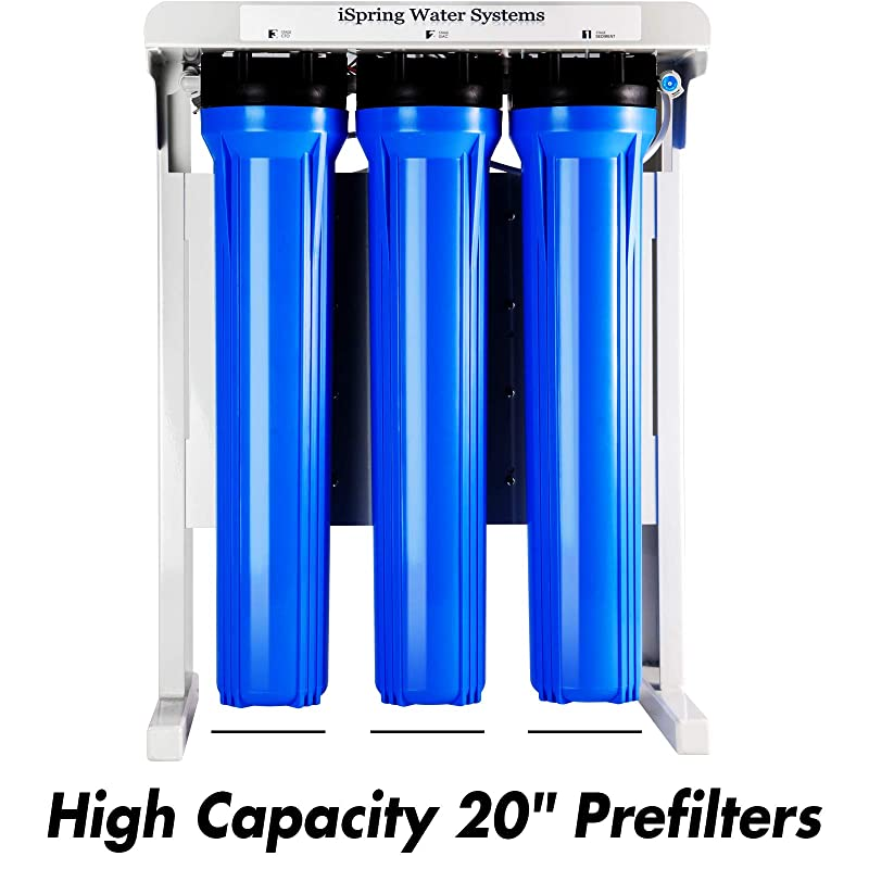 "iSpring RCB3P Reverse Osmosis System - 20"" prefilters"