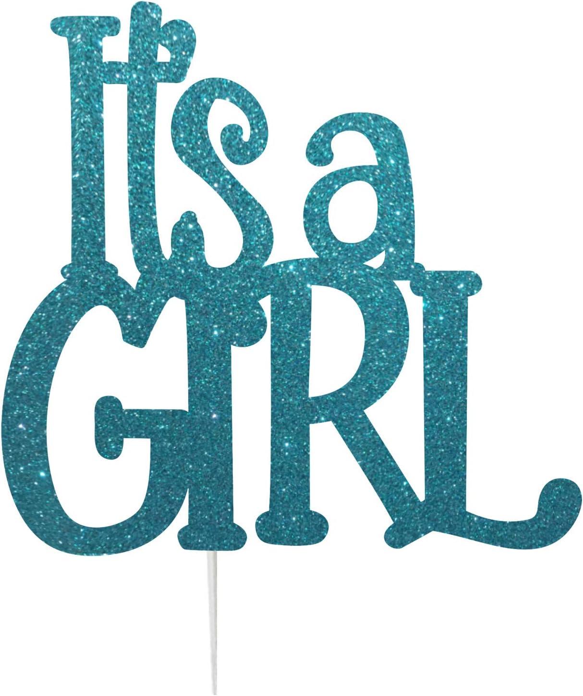 Topper per Torta con Scritta Its a Girl Prodotto nel Regno Unito Dark Blue LissieLou