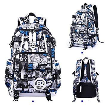 Amazon.com | High School Student Backpack Female Male Anti Theft Travel Bag Laptop Bagpack Women Men Backpack 49cmx32cmx16cm | Backpacks