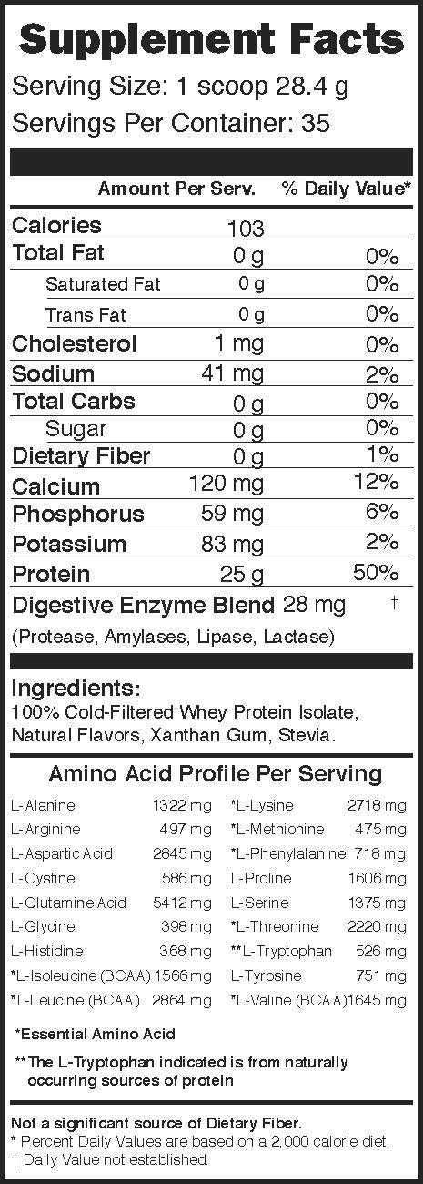 swiig Lo-Carb Whey Protein Isolate Vanilla 2.2lbs