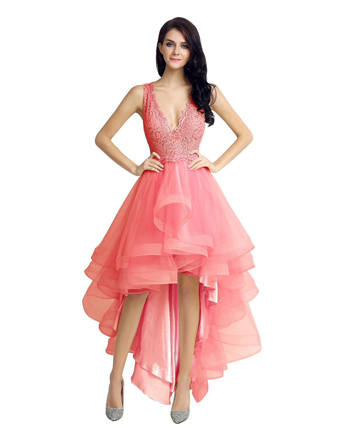 Sarahbridal DRESS レディース B01ISW3SX2 2|Coral Coral 2