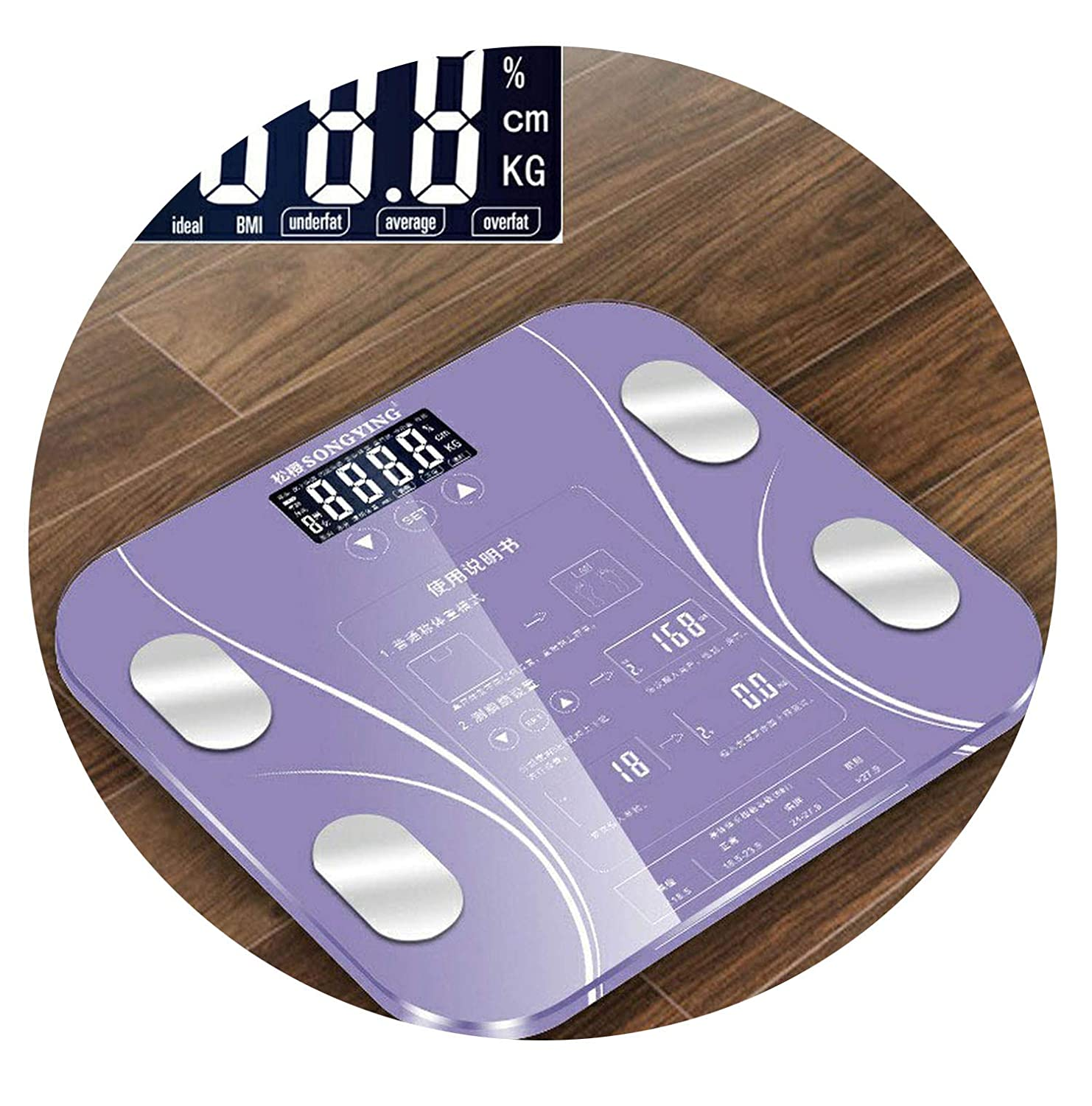 Amazon.com: Hot 13 Body Index Electronic Smart Weighing Scales Bathroom Body Fat bmi Scale Digital Human Weight Mi Scales Floor LCD Display,Black 2: Health ...