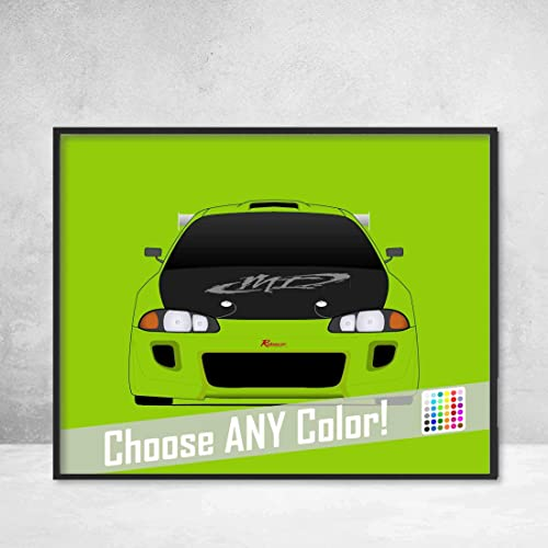 Furious Mitsubishi Walker com 2g From Eclipse Handmade Art Amazon O'connor Fast And Decor Poster paul Handmade Wall Print The Brian