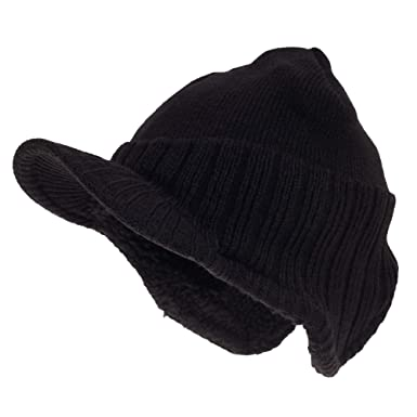 542603561be RockJock Mens German Style Peak Beanie Hat (One Size) (Black ...