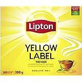Lipton Yellow Label Black Tea for an uniquely refreshing taste 100% Rainforest Alliance Certified 100 tea bags