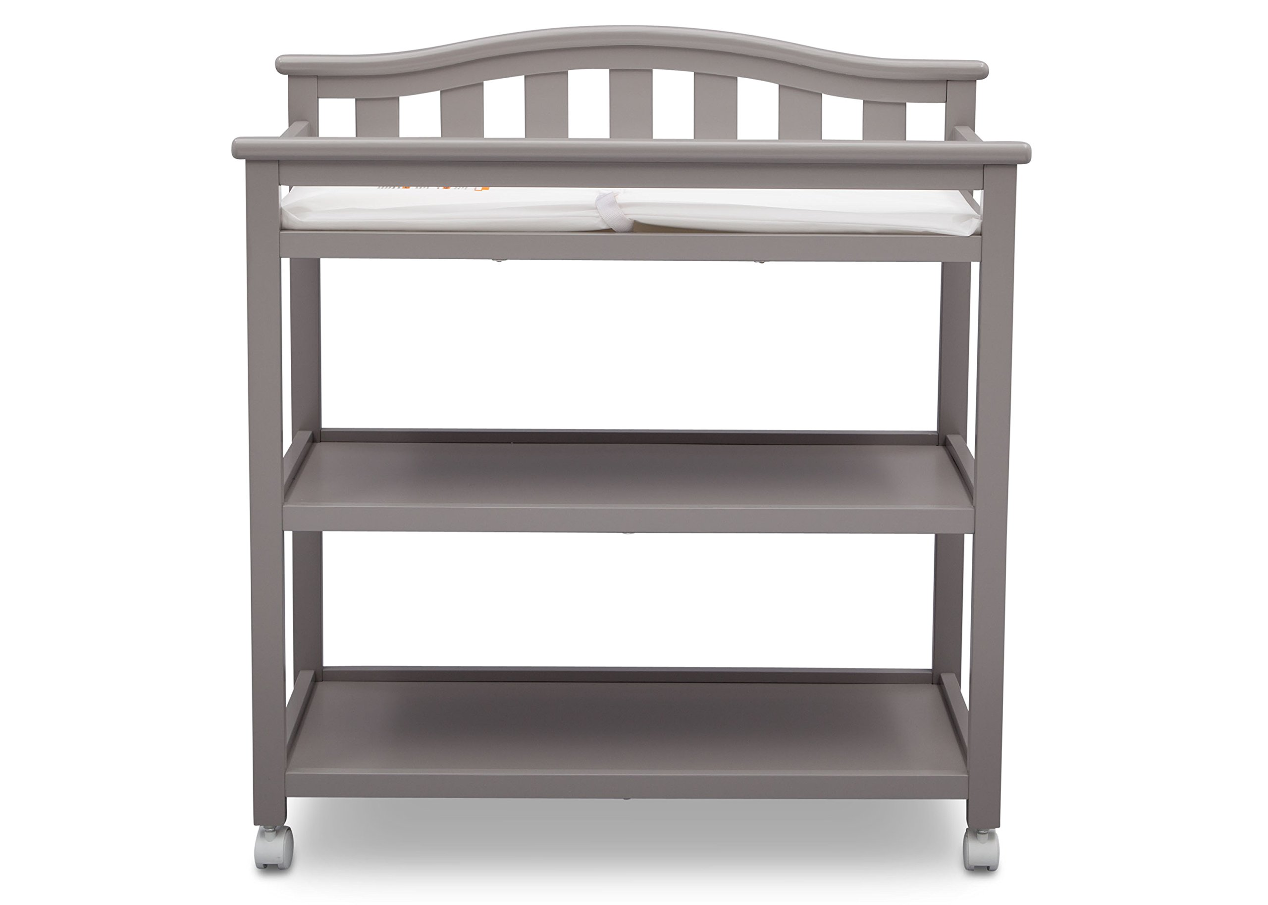 Delta Children Bell Top Changing Table with Casters, Grey by Delta Children (Image #6)