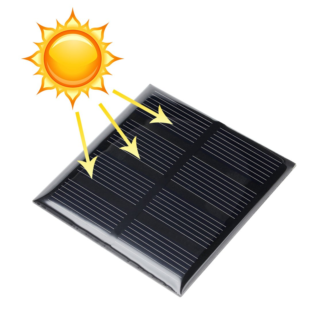 uxcell 5Pcs 2V 160mA Poly Mini Solar Cell Panel Module DIY for Phone Light Toys Charger 60mm x 60mm