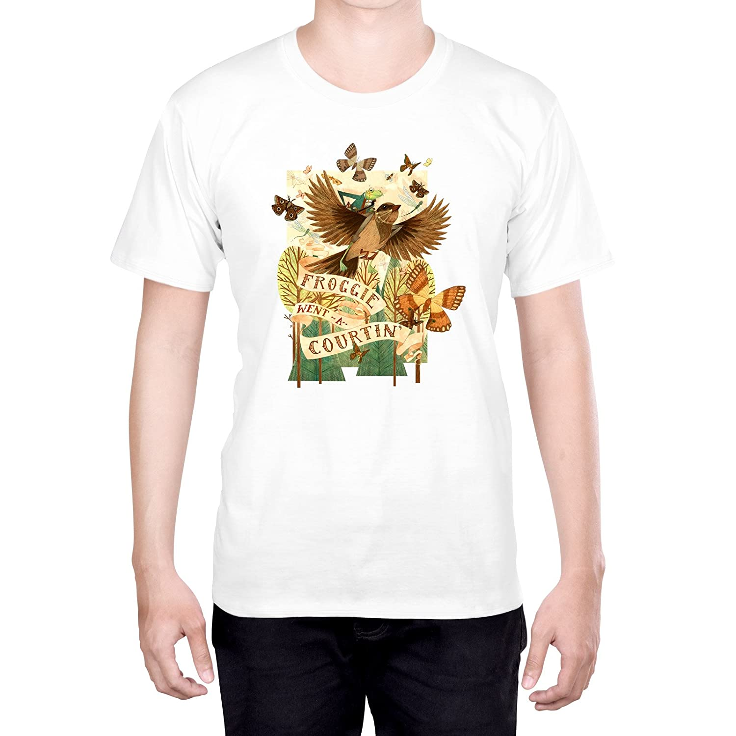 Official Cat Coquillette Unicorns Pastel Art XL - Extra Large Green T-Shirt for Men
