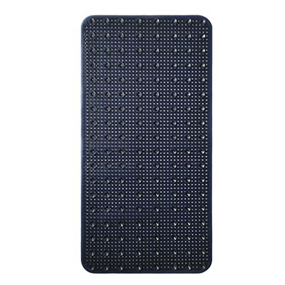 YK Decor Bath Tub Shower Mat Non-slip PVC Bathtub Mats Machine Washable Mildew Resistant Anti Bacterial Shower Mat for Bathroom with Suckers (Dark Blue, 28x14 inch) by YK Decor (Image #3)