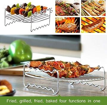 3 Pièces Air Fryer Rack Cuisine Vaporisage refroidissement Racks Cuisine Multi-Purpose 304