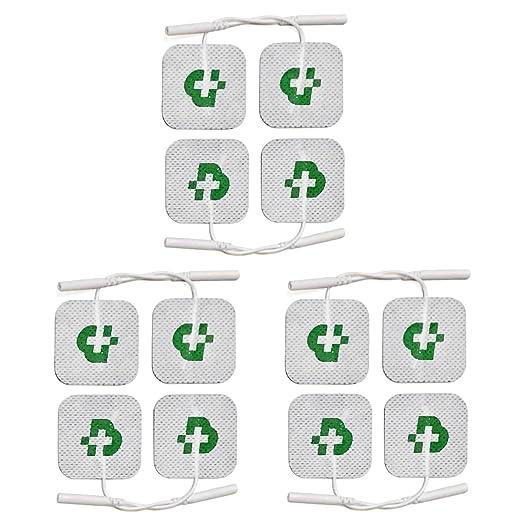 7 opinioni per 12 électrodes pour électrostimulateur mm. 40 x 40, lavables, autocollants,
