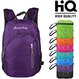 mountop Lightweight Foldable Packable Durable Travel Hiking Backpacks Daypacks 20L (Purple)