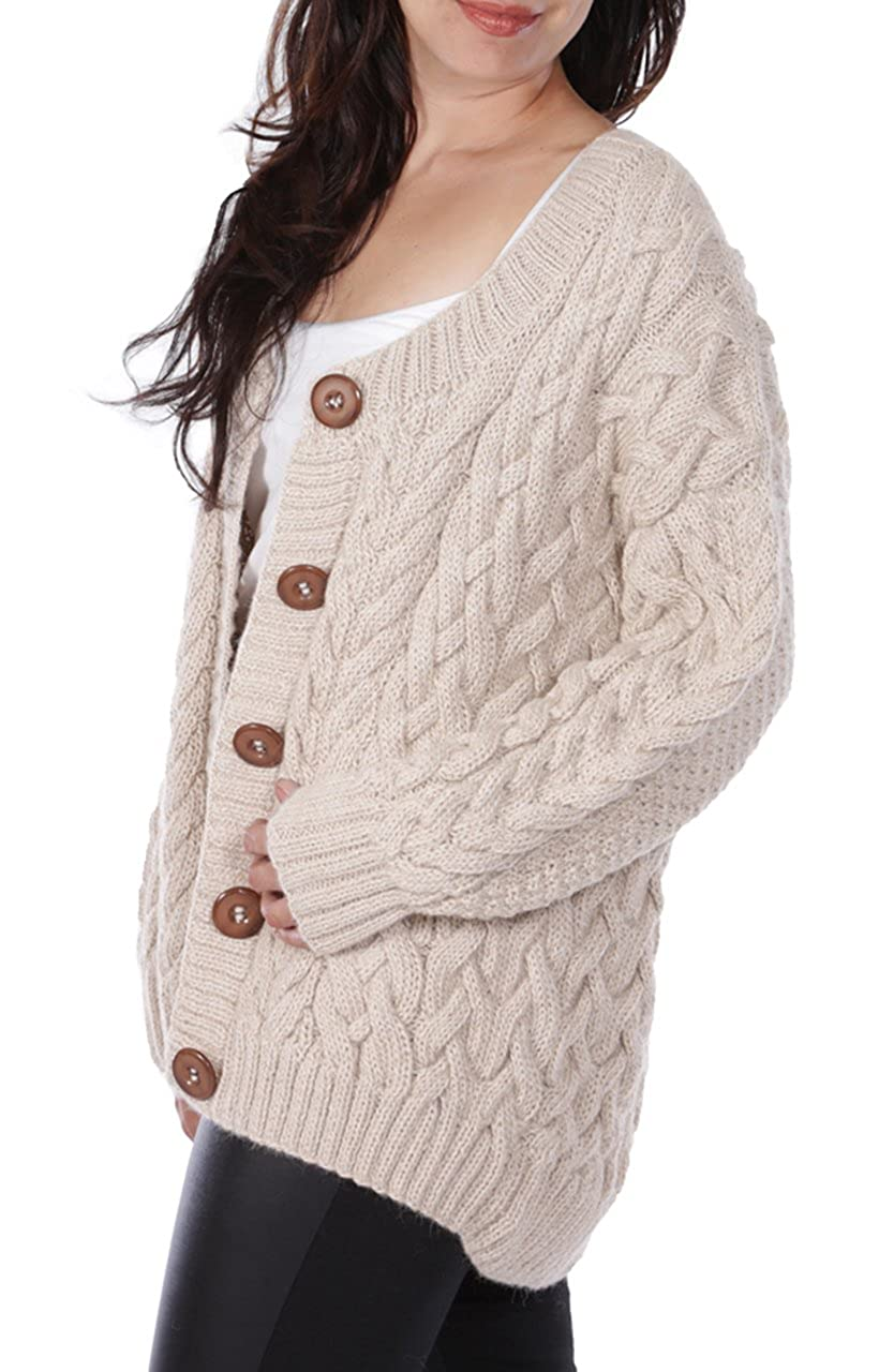 491a39e88b ERLUM Alpaca Alexa Cable Cardigan in 100% Hand Knit Baby Alpaca at Amazon  Women s Clothing store