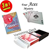 Its Magic Zauberkasten für Anfänger: Bicycle Svengali Deck + Vanishing Deck + Four Aces Mystery Trick inkl. deutschsprachiger Anleitungen + Video-Instruktionen als Download