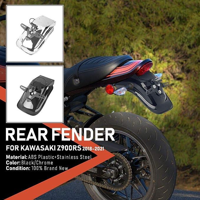 Xx Ecommerce Motorradzubehör Für Z 900 Rs 18 19 20 21 Abs Hinterreifen Hugger Kotflügel Spritzschutz Kotflügel Für Kawasaki Z900rs Z 900rs 2018 2019 2020 2021 Schwarz Auto