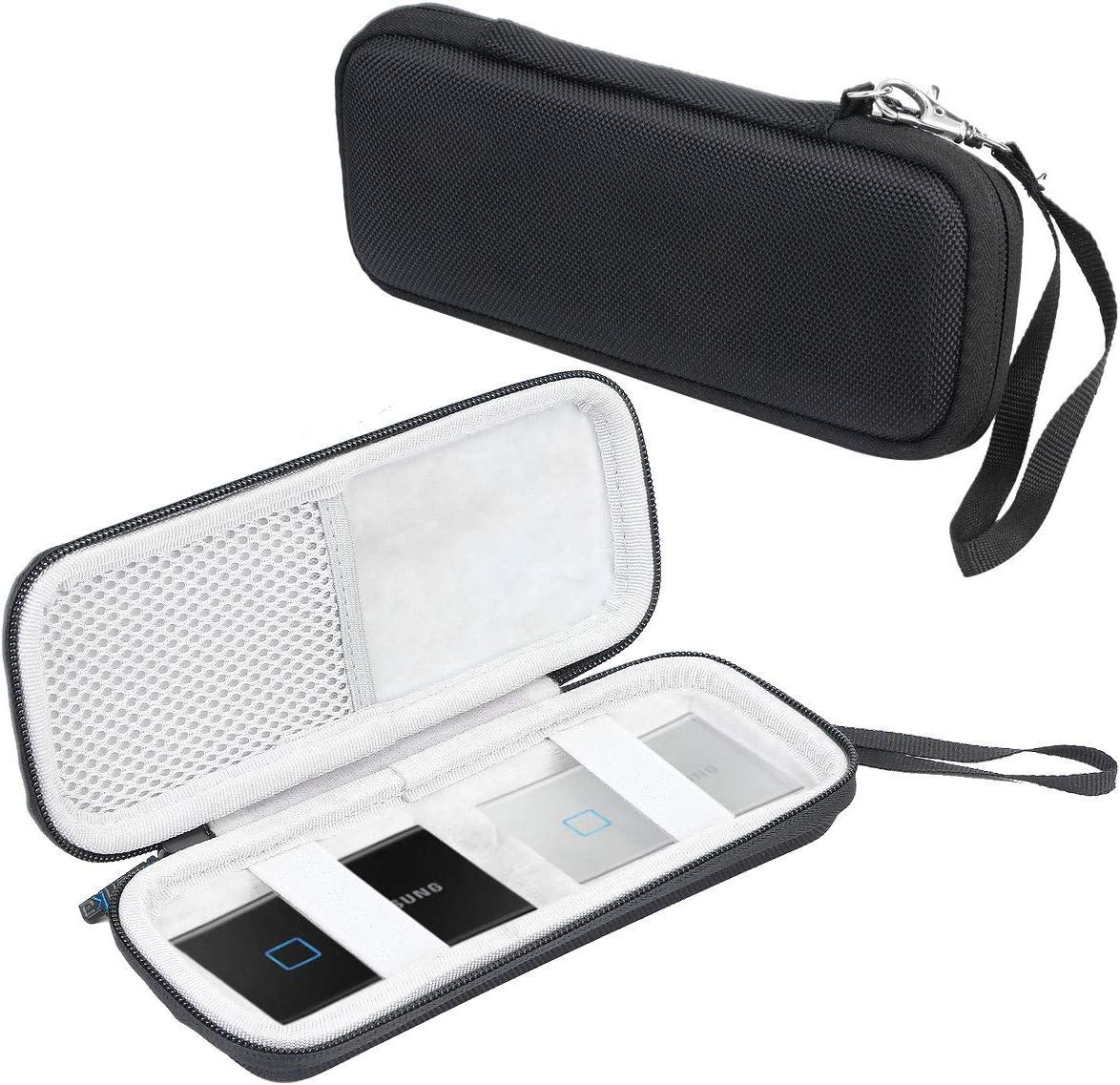 Khanka Duro Viaje Estuche Bolso Funda para Samsung T7 Touch Portable SSD 500GB 1TB 2TB (Se Adapta a 2 SSD, Vertical): Amazon.es: Electrónica