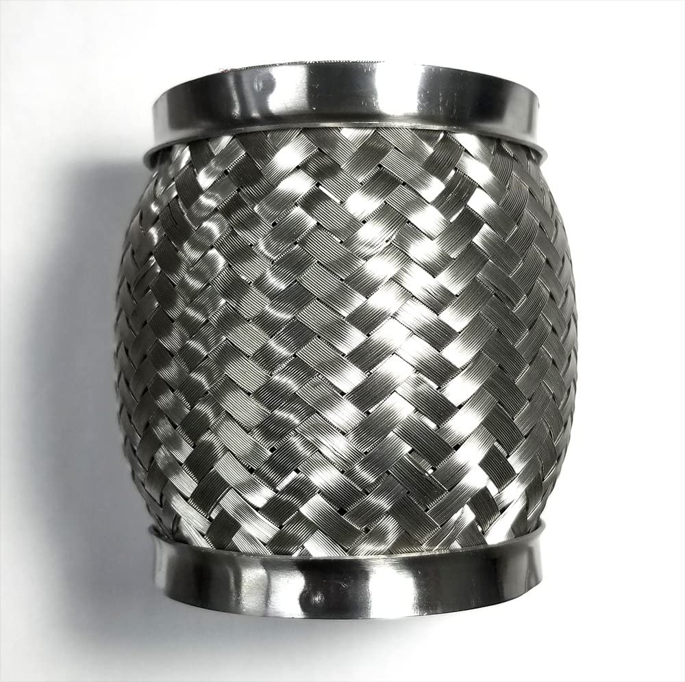 3 Exhaust Flex Coupling Joint Bellow with Interlock Liner 3 x 4 Length SS304 Stainless Steel