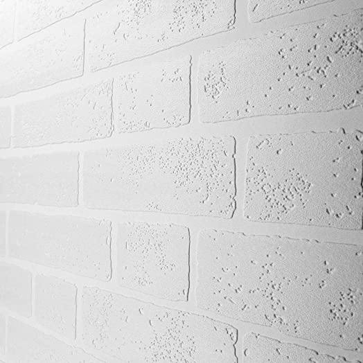 Paintable White Brick Effect Wallpaper (ILW980009)