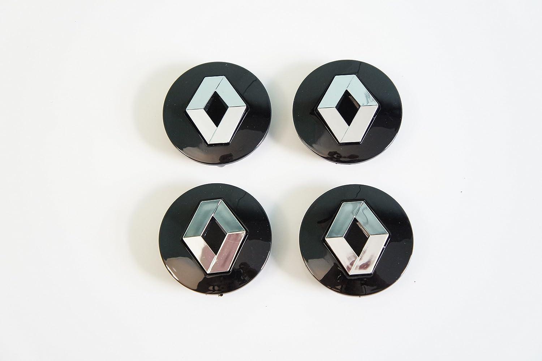 Set de 4 Renault negro - Llantas de aleación Centro Tapacubos cara 57 mm: Amazon.es: Coche y moto