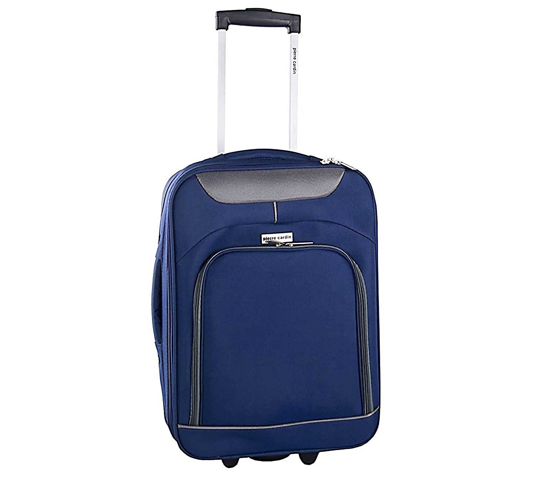 Trolley bagaglio a mano 161038 PIERRE CARDIN in tessuto 46 x 33 x 16.5 cm. MEDIA WAVE store ® (Avion)