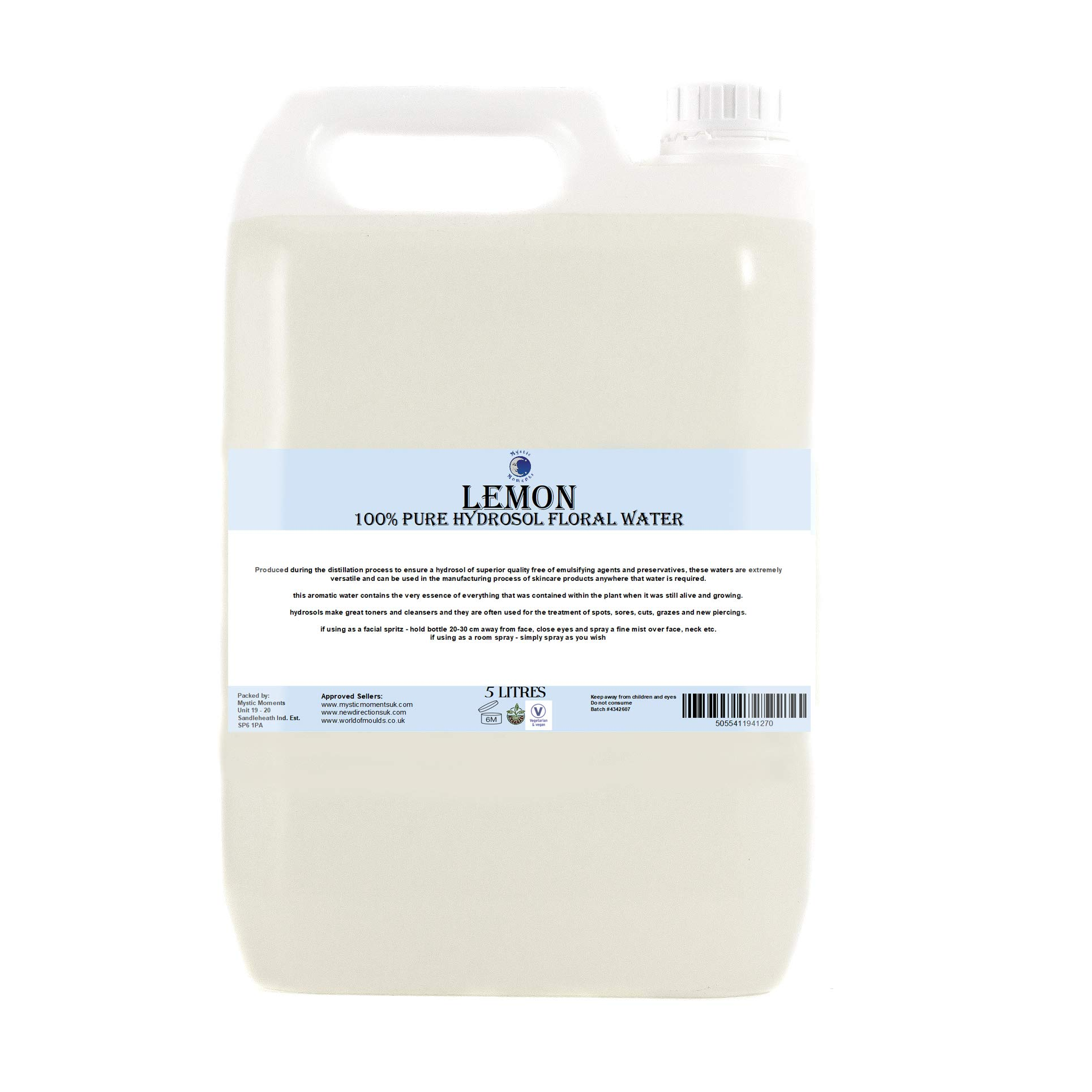 Lemon Hydrosol Floral Water - 5 Litres