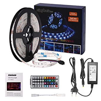 Simfonio Led Strip 5m Led Stripes 5m Wasserdicht 5050smd 150 Led