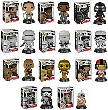 Funko POP! Star Wars Mystery Pack - 6 Random Stylized Vinyl Bobble-Head Set NEW: Amazon.es: Juguetes y juegos