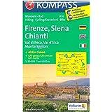 Firenze, Siena, Chianti (Toscana, Italia) 1:50.000 carta escursionistica topografica KOMPASS # 2458