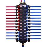 Viega 50250 1/2-Inch PureFlow Zero Lead Poly Alloy PEX Crimp Manabloc With 18 Ports - 10 Cold 8 Hot