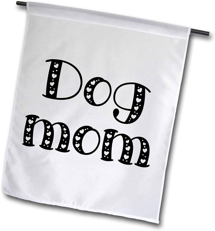 3dRose Lenas Photos - Cute Sayings - Dog Mom - 12 x 18 inch Garden Flag (fl_301436_1)