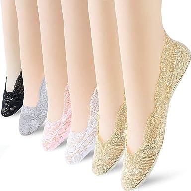 Declare Women Sweet Lace Boat Socks Comfortable Cotton Invisible Socks Casual Socks