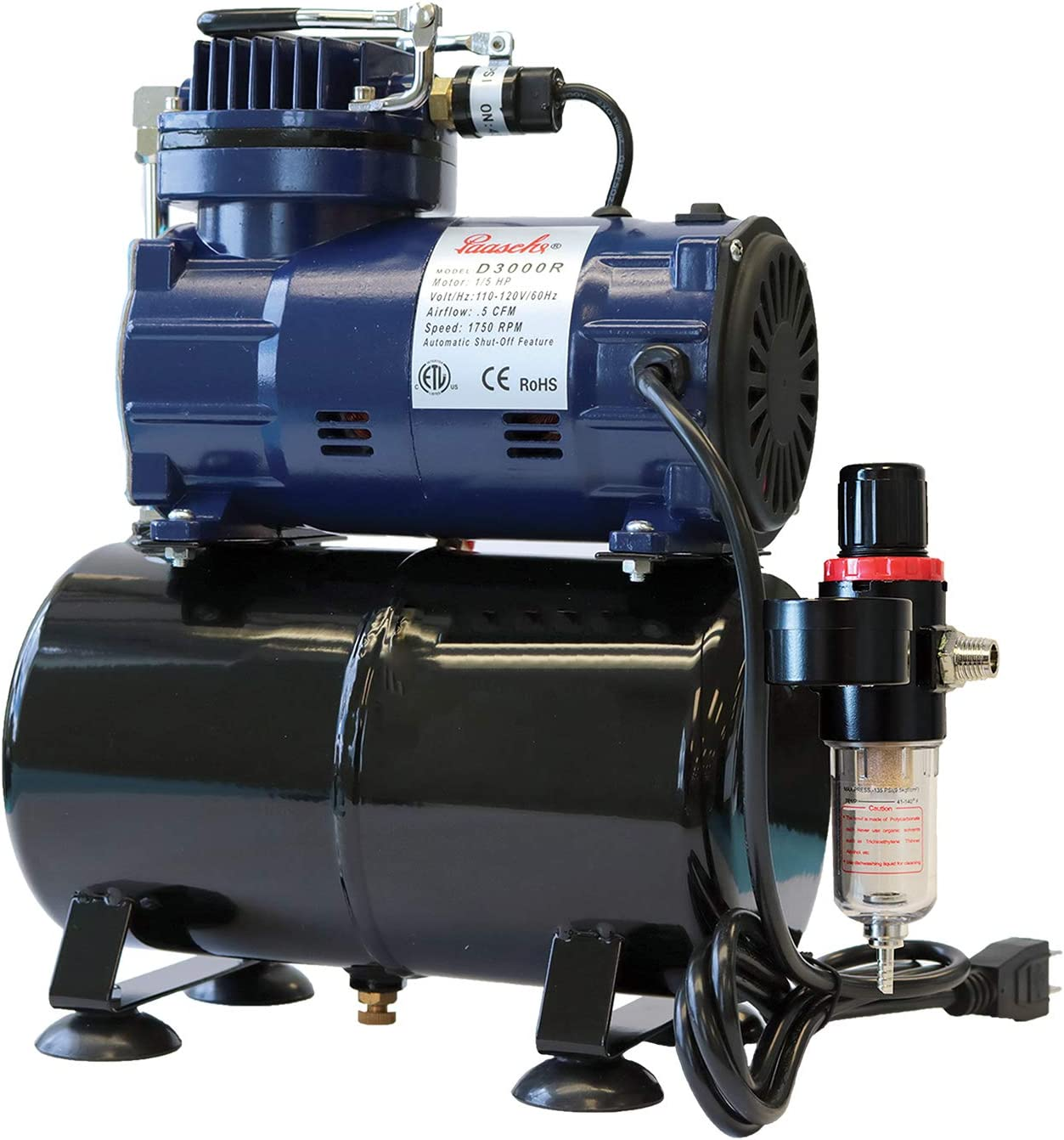 Paasche D3000R 1/5 HP Airbrush Compressor