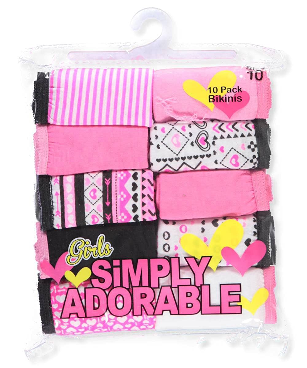 Simply Adorable Girls 10-Pack Bikini Underwear