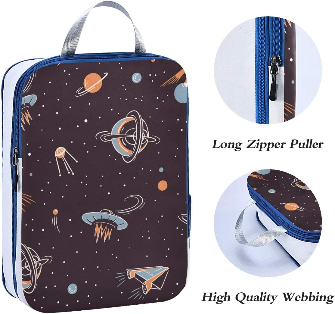 l Space Rockets 3 Set Packing Cubes,2 Various Sizes Travel Luggage Packing Organizers