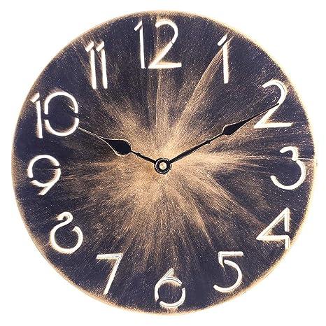 12che 30cm Wanduhr Ohne Tickgeräusche Wanduhr Küche Wanduhr Uhr Wand Modern  Eisen Kunst Wanduhr für Schlafzimmer Wohnzimmer Büro
