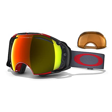 e900916d698 Image Unavailable. Image not available for. Color  Oakley Airbrake Goggle  Viper Red Fire Iridium Persimmon