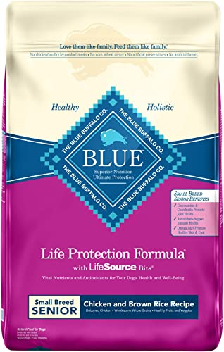 Blue Buffalo Life Protection Formula Small Breed Senior Dog Food Natural Dry Dog Food