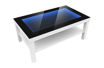 Modern Couchtisch modern couchtisch glastisch beistelltisch tiefeneffekt tisch led 3d