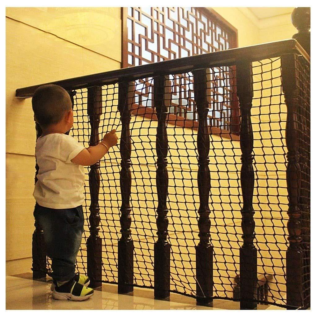 Red de Seguridad Malla de Seguiridad para Protección a Niños y Bebés, para Barandillas de Escaleras Colocar en Balcones Terrazas Puertas Redes de Protectora, Negro 5cm/6mm: Amazon.es: Hogar