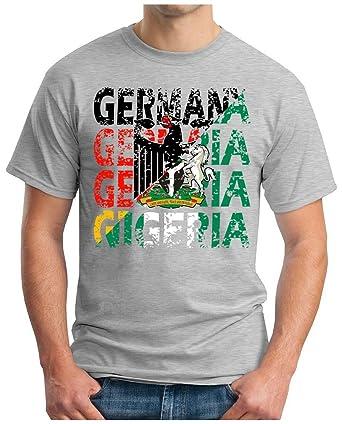 OM3 Ger-Nig - T-Shirt Deutschland Germany Nigeria Em 2016 France Fufu Beer