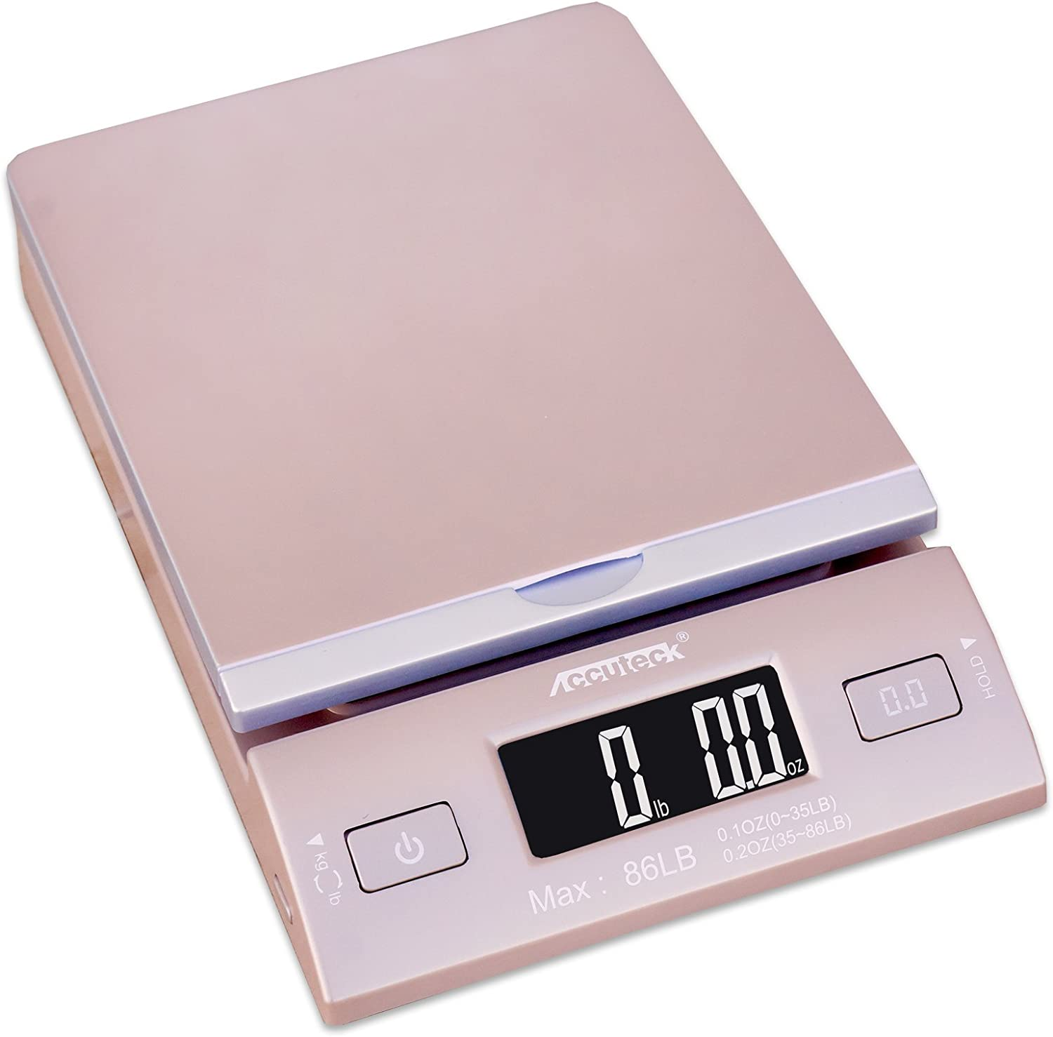 Accuteck DreamGold 86 Lbs Digital Postal Scale Shipping Scale Postage with USB&AC Adapter, Limited Edition: Office Products