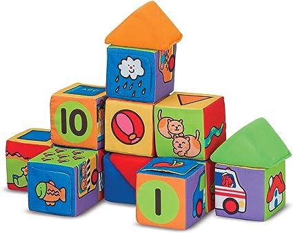 Baby Kids Toys Cartoon Cube Book Plush Ball Newborns Baby Soft Cubes Toy 6A