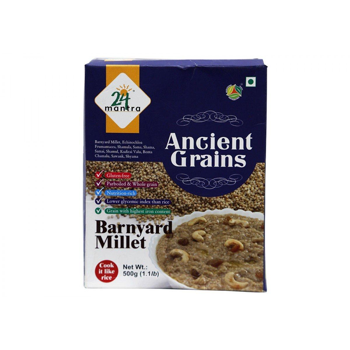 24 Mantra Organic Parboiled Barnyard Millet - 500 Gms - 2 Pack