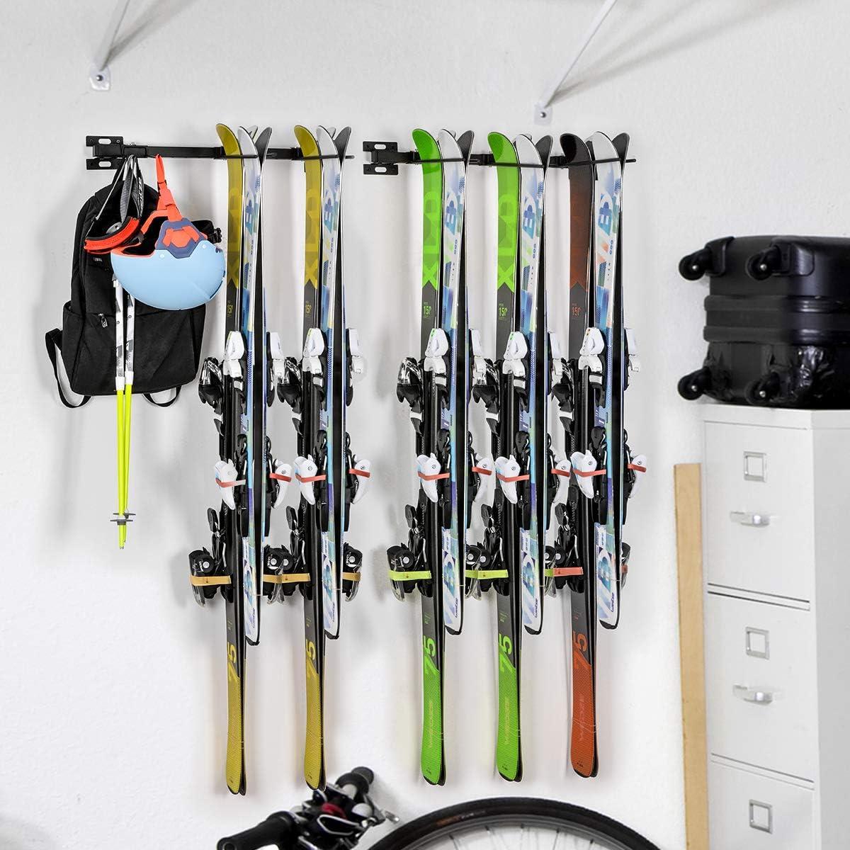1 paire Porte-Snowboard /étag/ère fixation mural